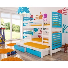 Triple trundle Bed SORIO in STOCK