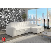 Corner Sofa Bed COMFORT + pouf in STOCK
