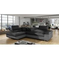 Corner Sofa Bed ANTONIO + foot stool 35x35 in STOCK