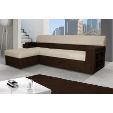 Brun Corner Sofa Bed
