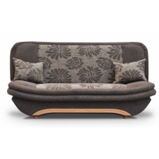 Sofa bed SAMBA brown flowers